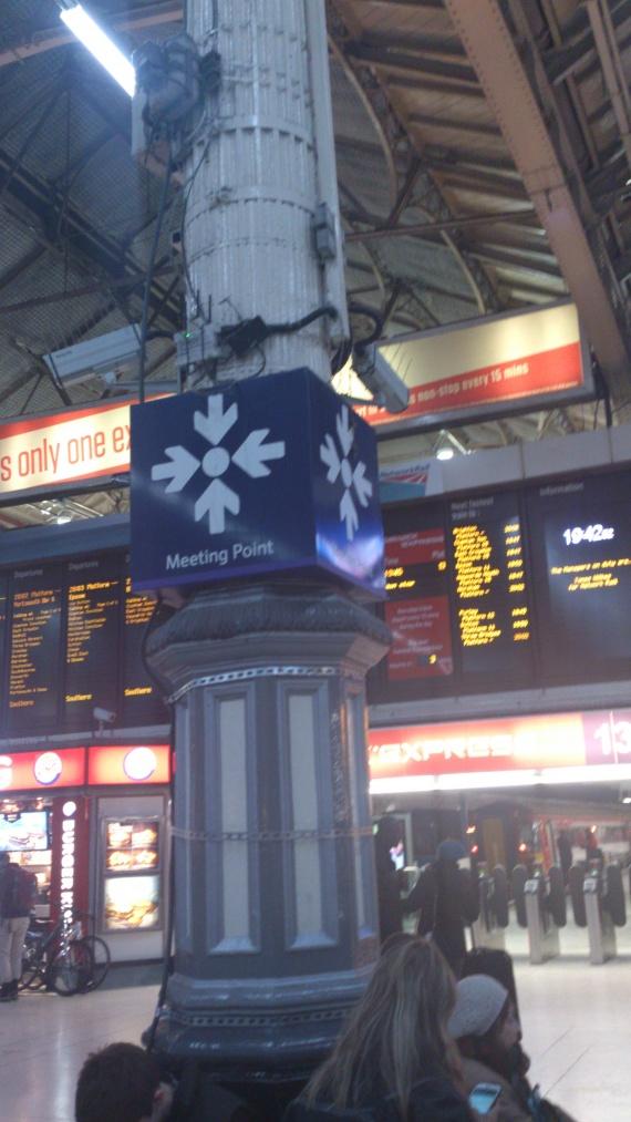 Место встречи на вокзале в Лондоне
