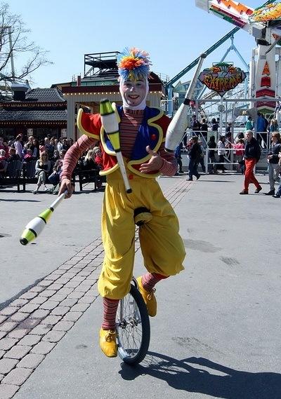 клоун в Грюна Лунд